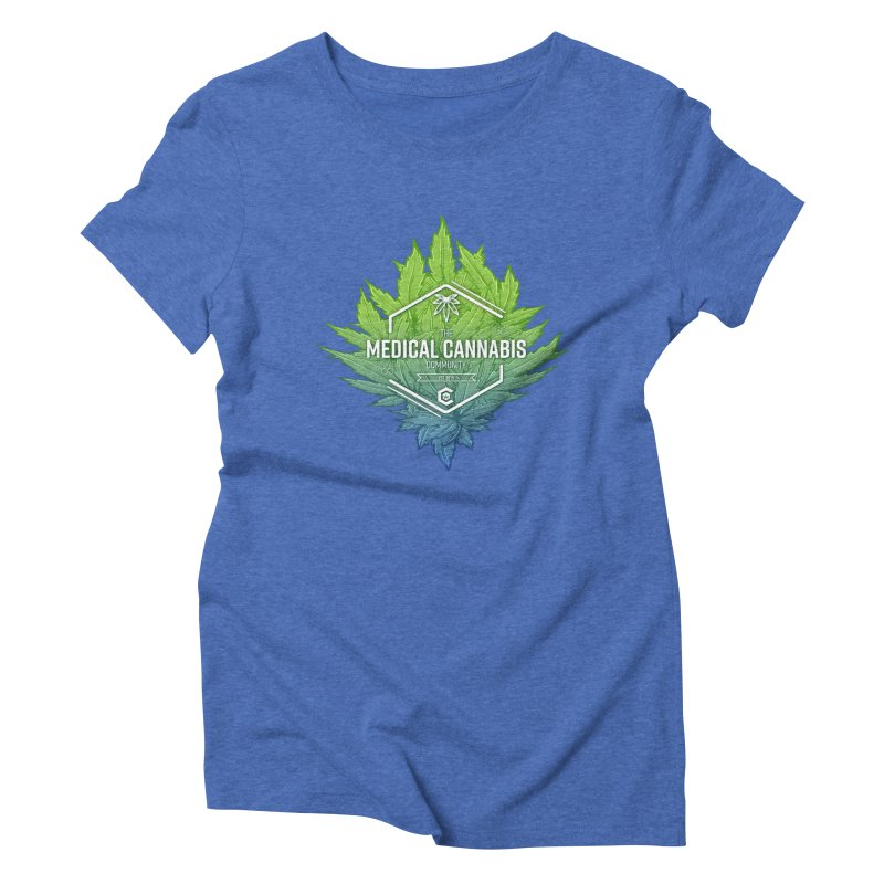 The Medical Cannabis Community Icon Women's Triblend T-Shirt by The Medical Cannabis Community