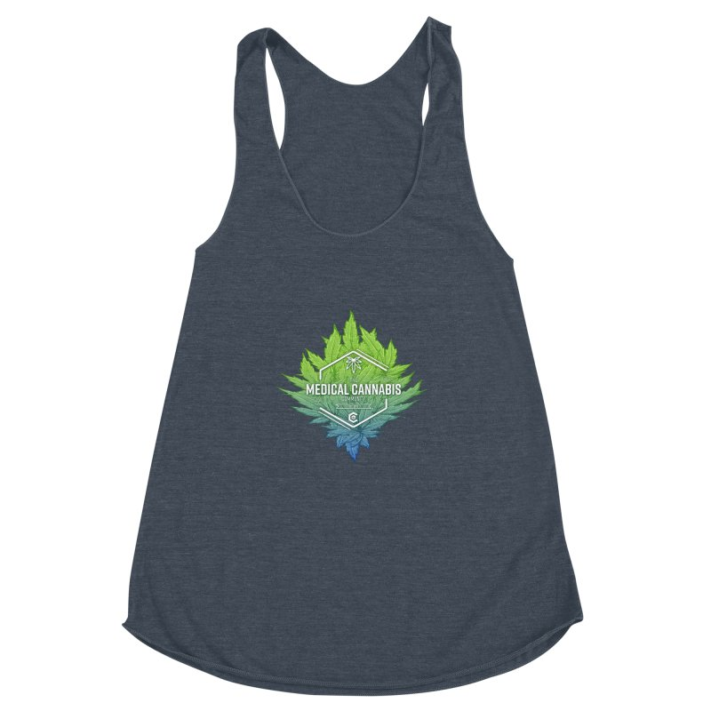 The Medical Cannabis Community Icon Women's Racerback Triblend Tank by The Medical Cannabis Community