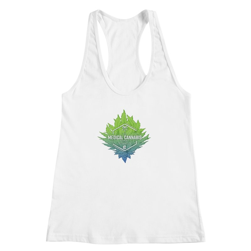 The Medical Cannabis Community Icon Women's Racerback Tank by The Medical Cannabis Community