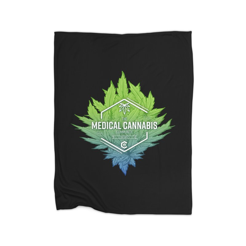 The Medical Cannabis Community Icon Home Fleece Blanket Blanket by The Medical Cannabis Community