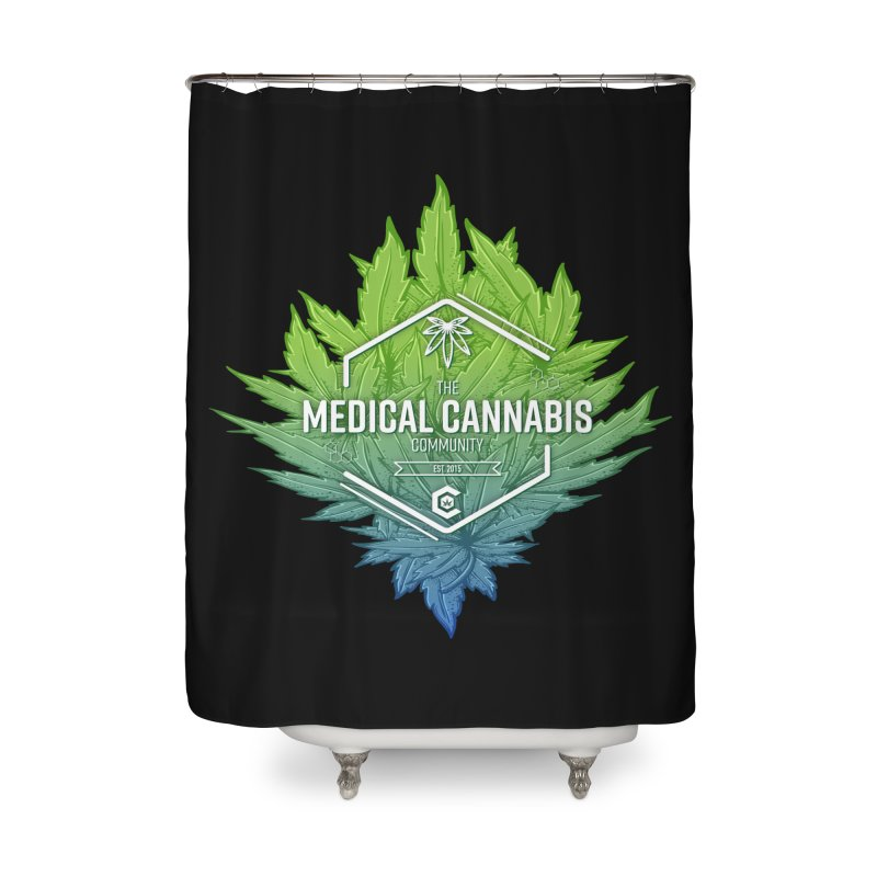 The Medical Cannabis Community Icon Home Shower Curtain by The Medical Cannabis Community
