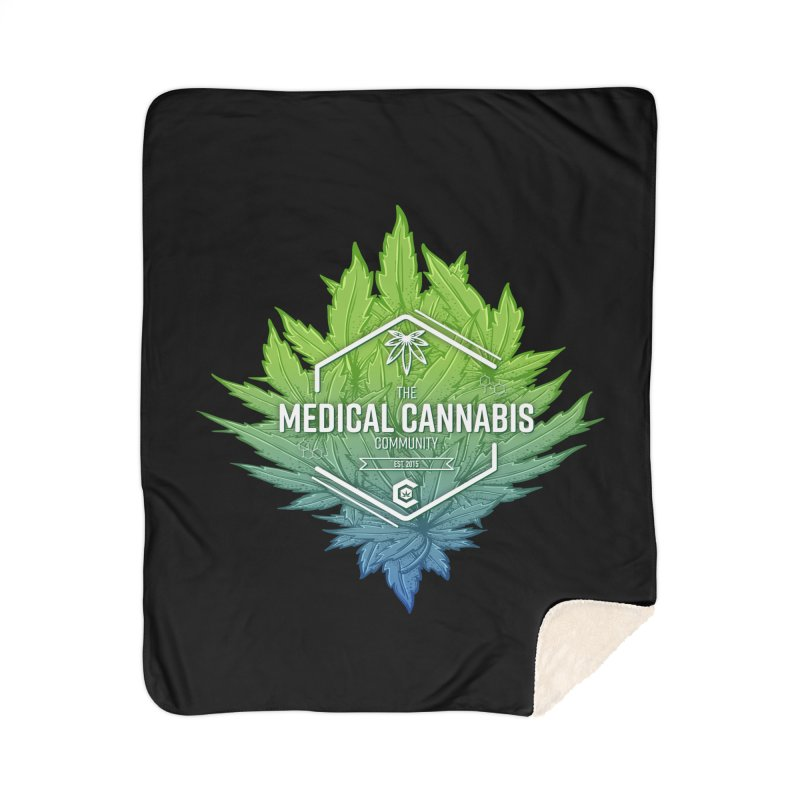 The Medical Cannabis Community Icon Home Sherpa Blanket Blanket by The Medical Cannabis Community