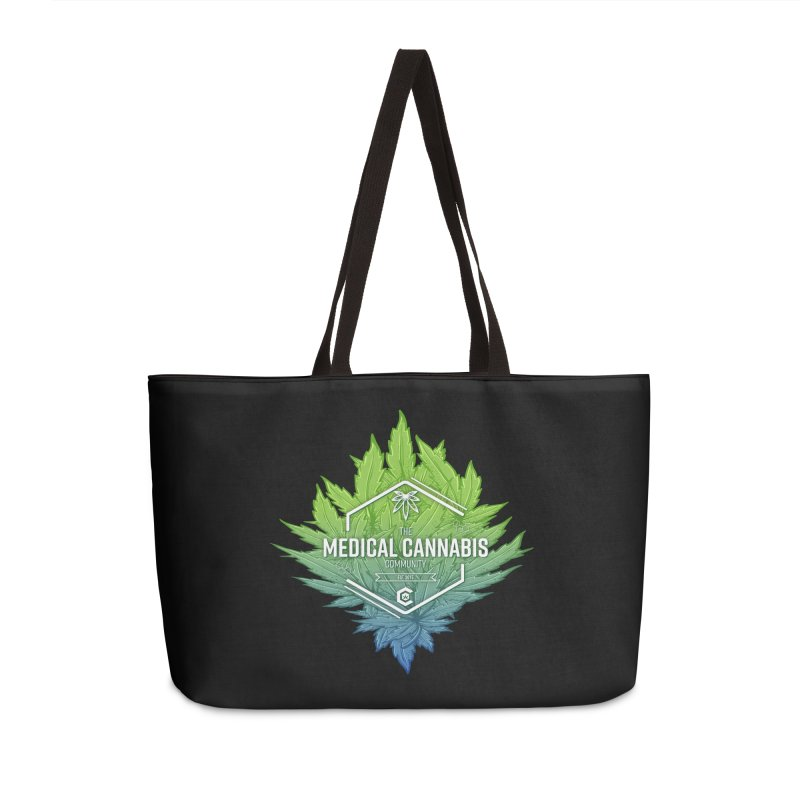 The Medical Cannabis Community Icon Accessories Weekender Bag Bag by The Medical Cannabis Community