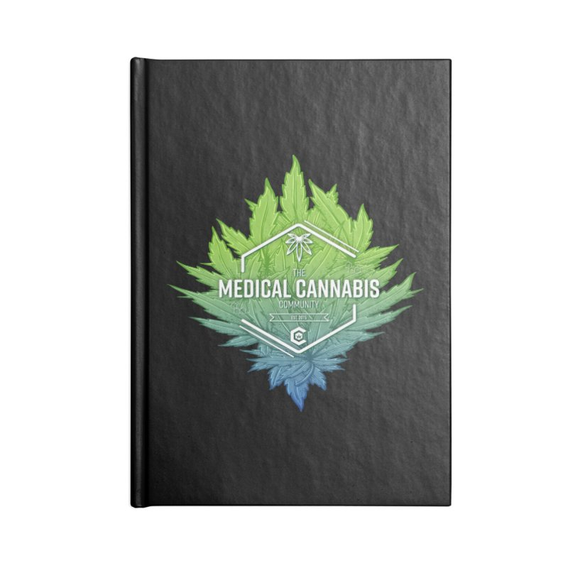 The Medical Cannabis Community Icon Accessories Lined Journal Notebook by The Medical Cannabis Community