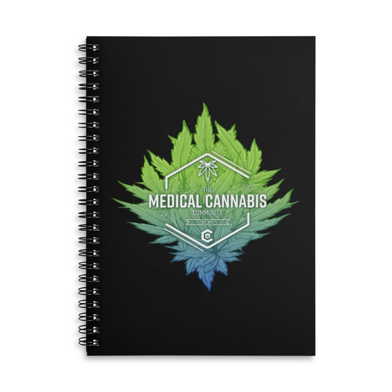 The Medical Cannabis Community Icon Accessories Lined Spiral Notebook by The Medical Cannabis Community