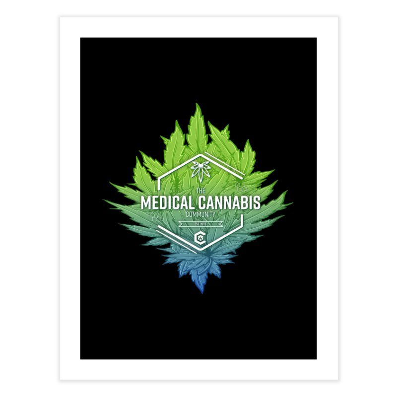 The Medical Cannabis Community Icon Home Fine Art Print by The Medical Cannabis Community