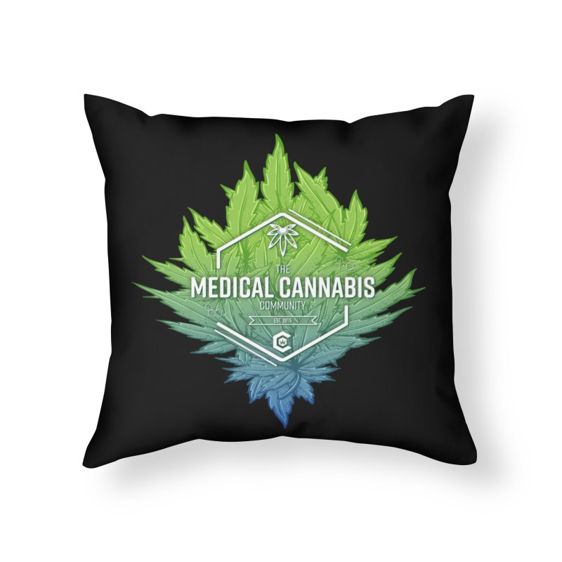 The Medical Cannabis Community Icon Home Throw Pillow by The Medical Cannabis Community