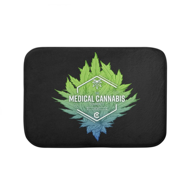 The Medical Cannabis Community Icon Home Bath Mat by The Medical Cannabis Community