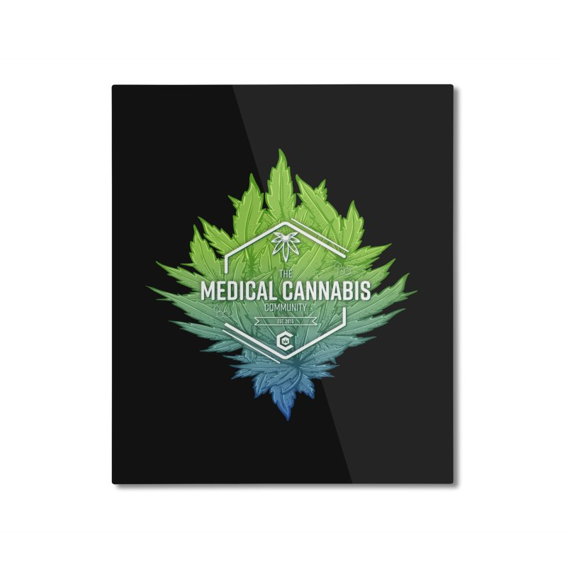 The Medical Cannabis Community Icon Home Mounted Aluminum Print by The Medical Cannabis Community