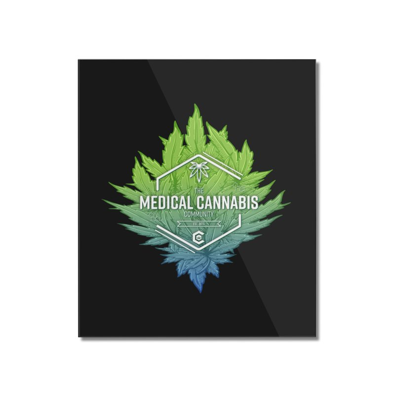 The Medical Cannabis Community Icon Home Mounted Acrylic Print by The Medical Cannabis Community