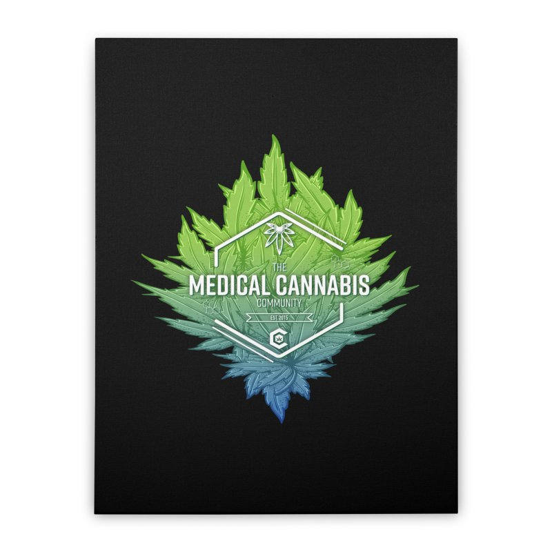 The Medical Cannabis Community Icon Home Stretched Canvas by The Medical Cannabis Community