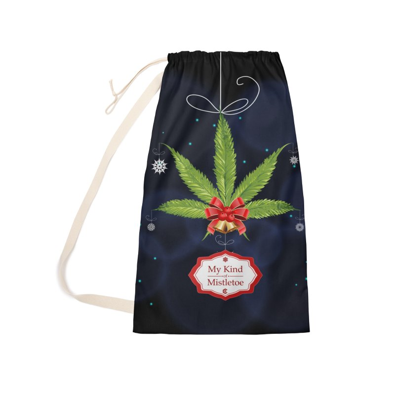 My Kind of Mistletoe Accessories Laundry Bag Bag by The Medical Cannabis Community