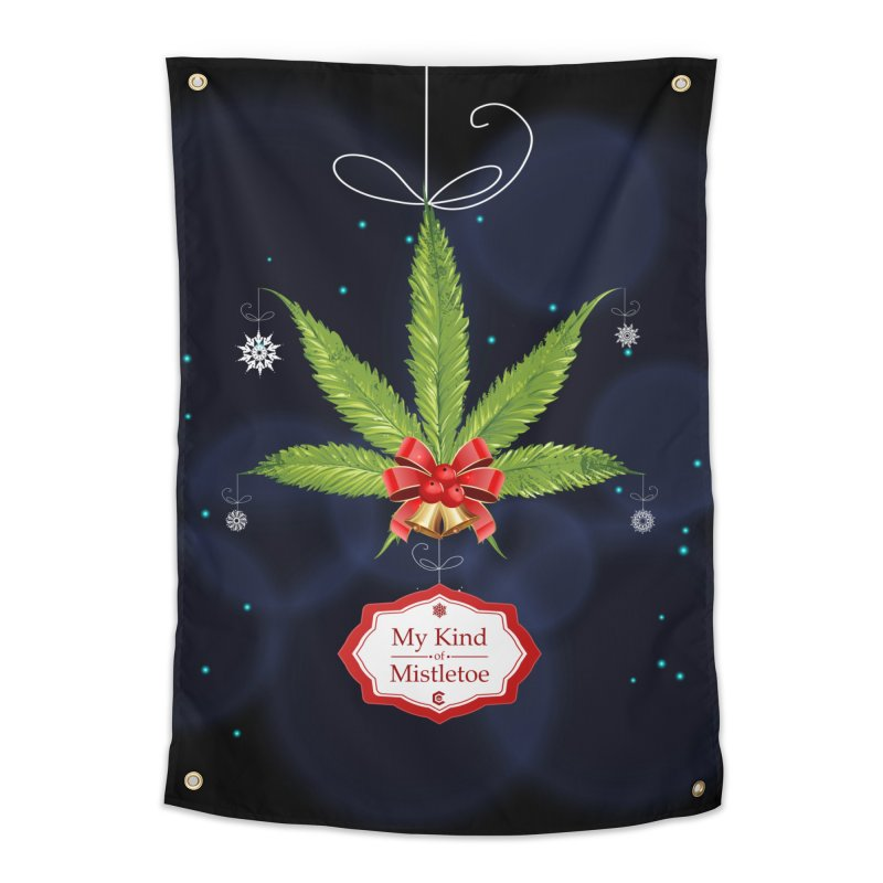 My Kind of Mistletoe Home Tapestry by The Medical Cannabis Community