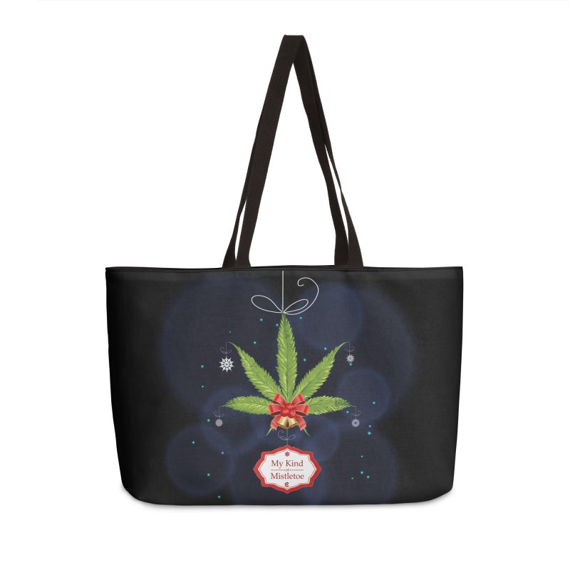My Kind of Mistletoe Accessories Weekender Bag Bag by The Medical Cannabis Community