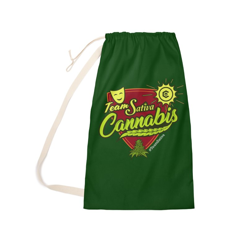 Team Sativa Accessories Laundry Bag Bag by The Medical Cannabis Community