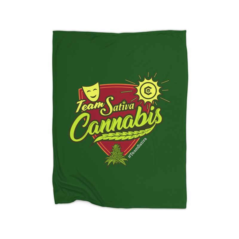Team Sativa Home Fleece Blanket Blanket by The Medical Cannabis Community