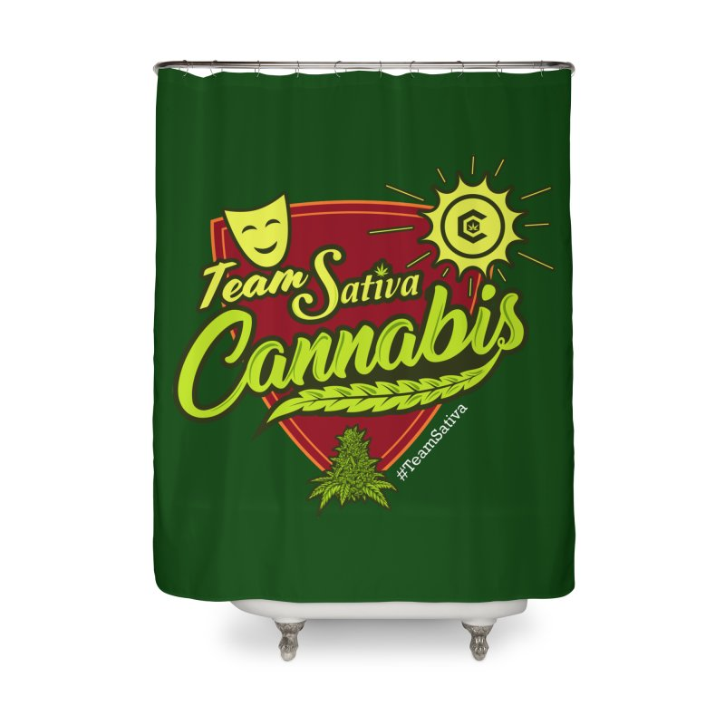 Team Sativa Home Shower Curtain by The Medical Cannabis Community