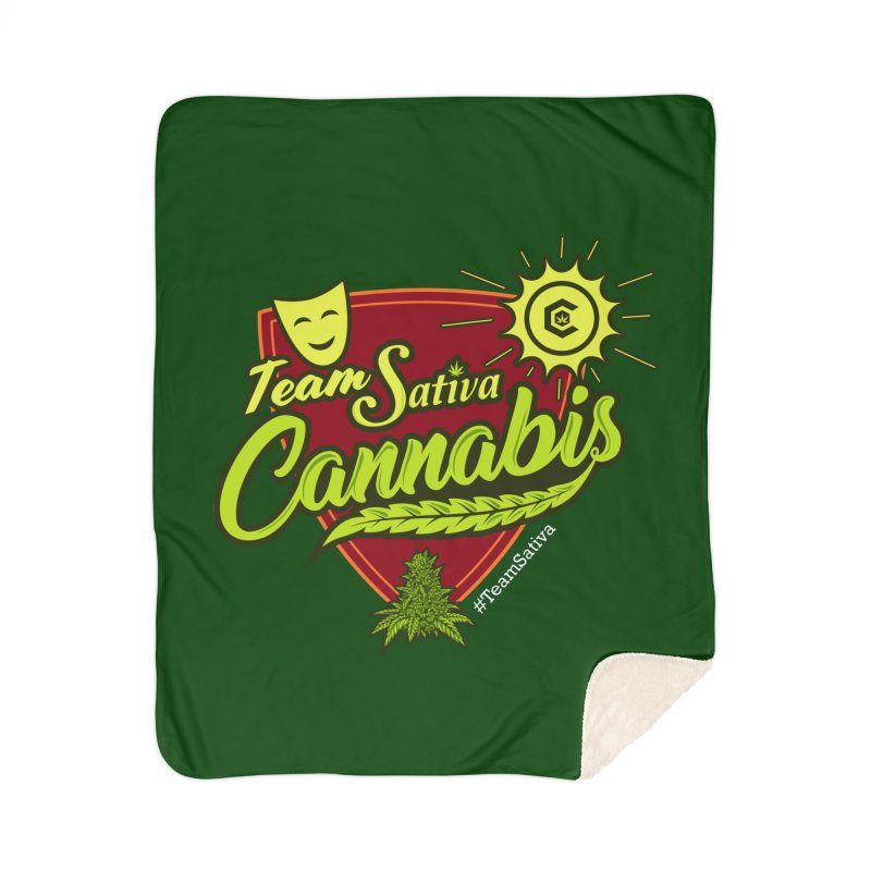 Team Sativa Home Sherpa Blanket Blanket by The Medical Cannabis Community