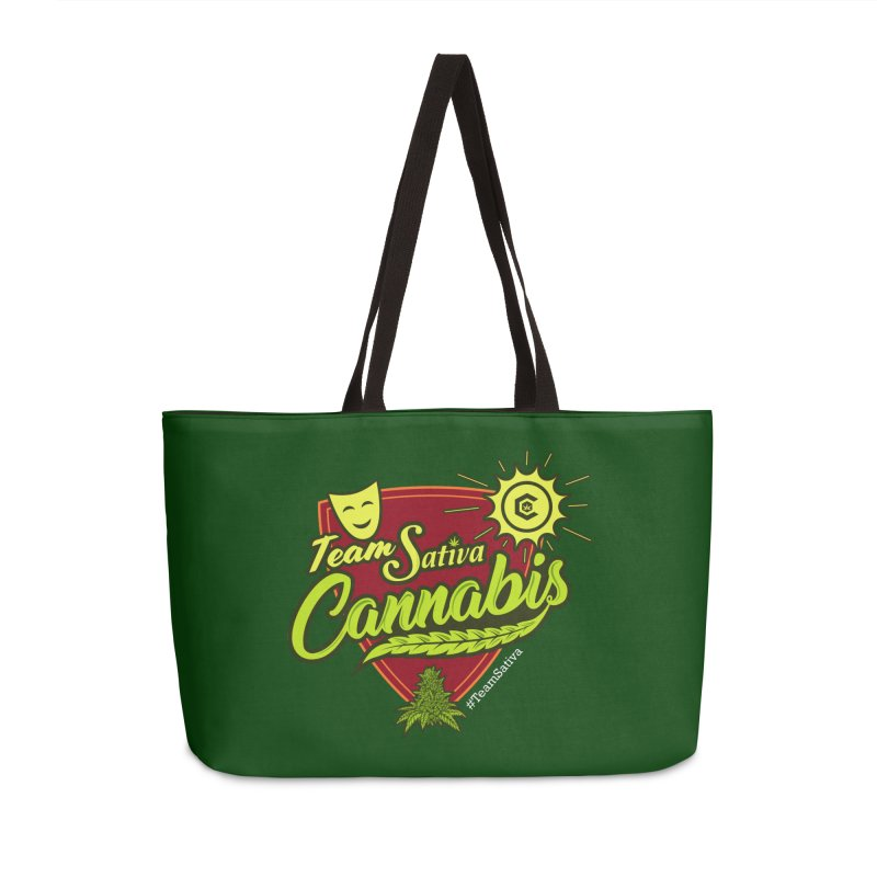 Team Sativa Accessories Weekender Bag Bag by The Medical Cannabis Community