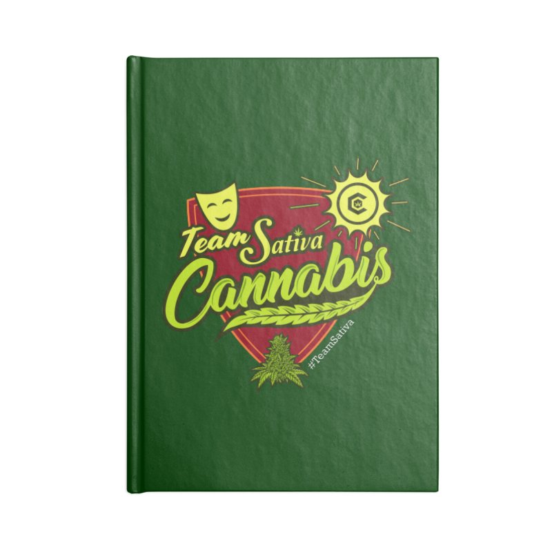 Team Sativa Accessories Lined Journal Notebook by The Medical Cannabis Community