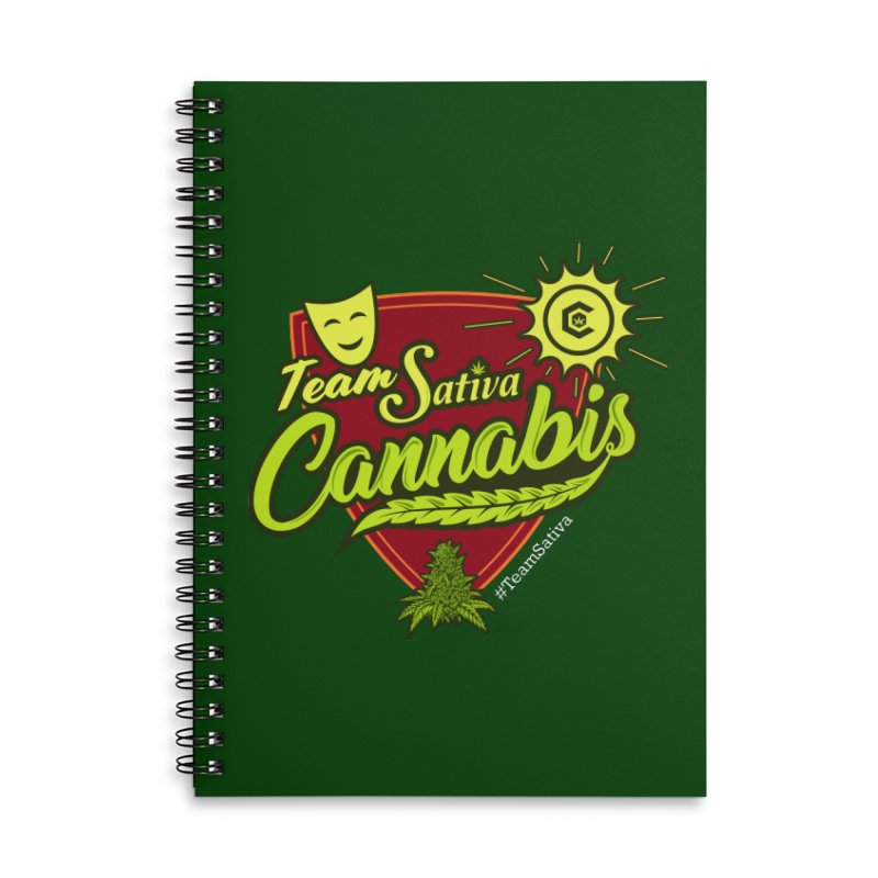Team Sativa Accessories Lined Spiral Notebook by The Medical Cannabis Community