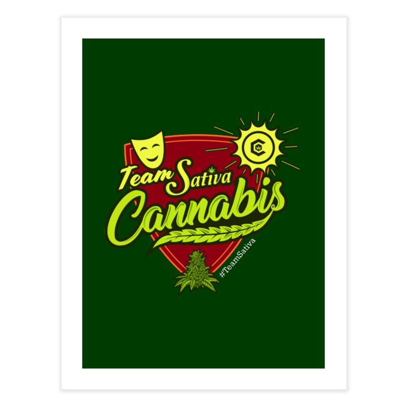 Team Sativa Home Fine Art Print by The Medical Cannabis Community