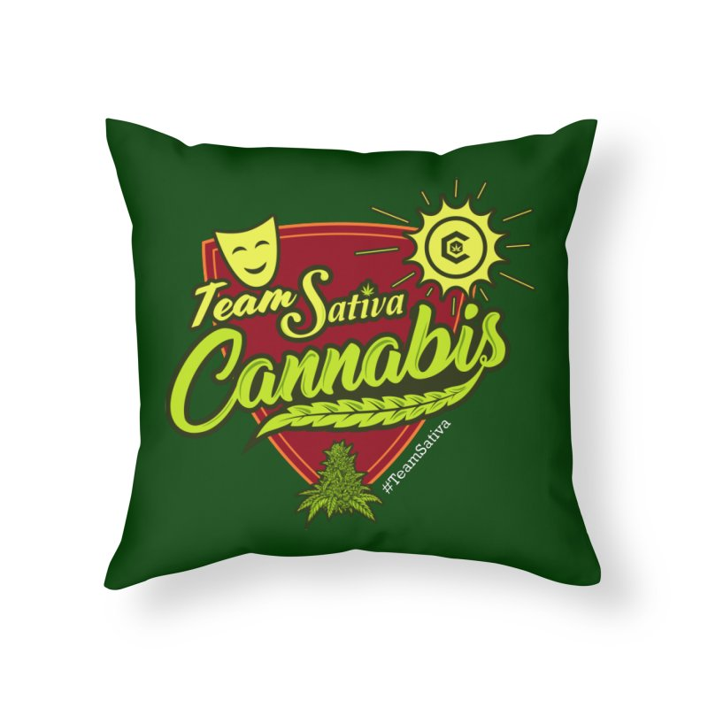 Team Sativa Home Throw Pillow by The Medical Cannabis Community