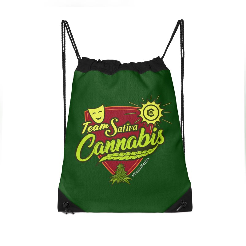 Team Sativa Accessories Drawstring Bag Bag by The Medical Cannabis Community