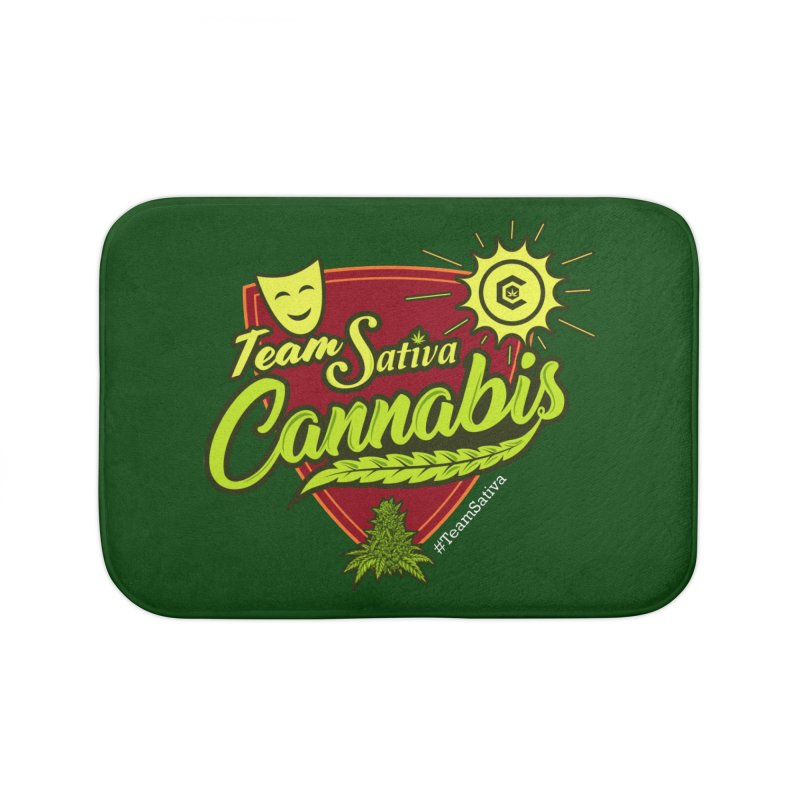 Team Sativa Home Bath Mat by The Medical Cannabis Community