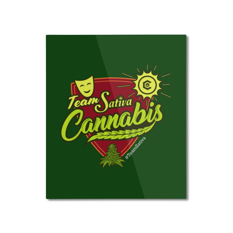Team Sativa Home Mounted Aluminum Print by The Medical Cannabis Community