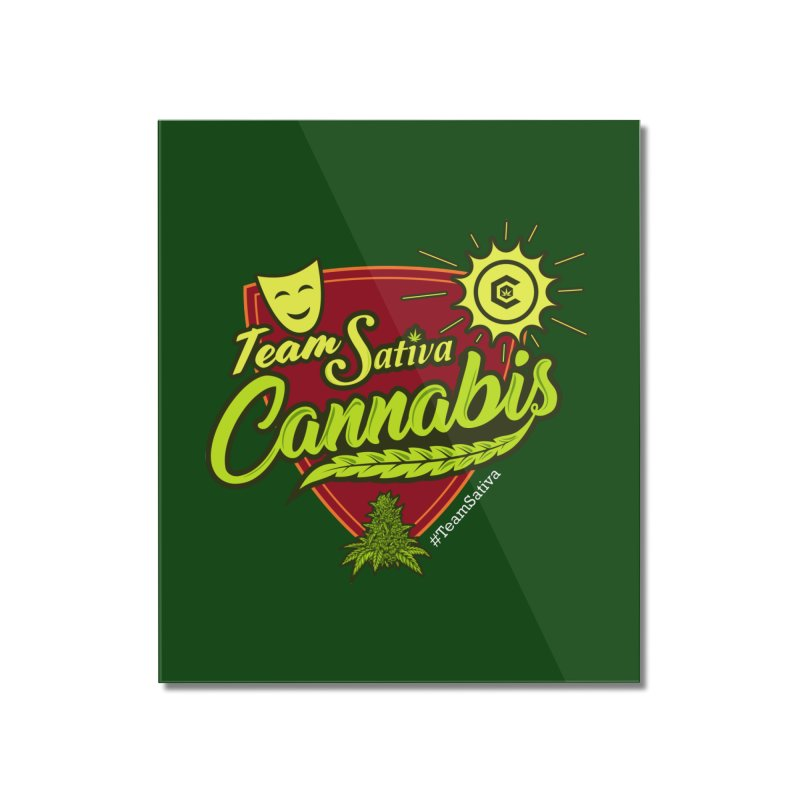 Team Sativa Home Mounted Acrylic Print by The Medical Cannabis Community