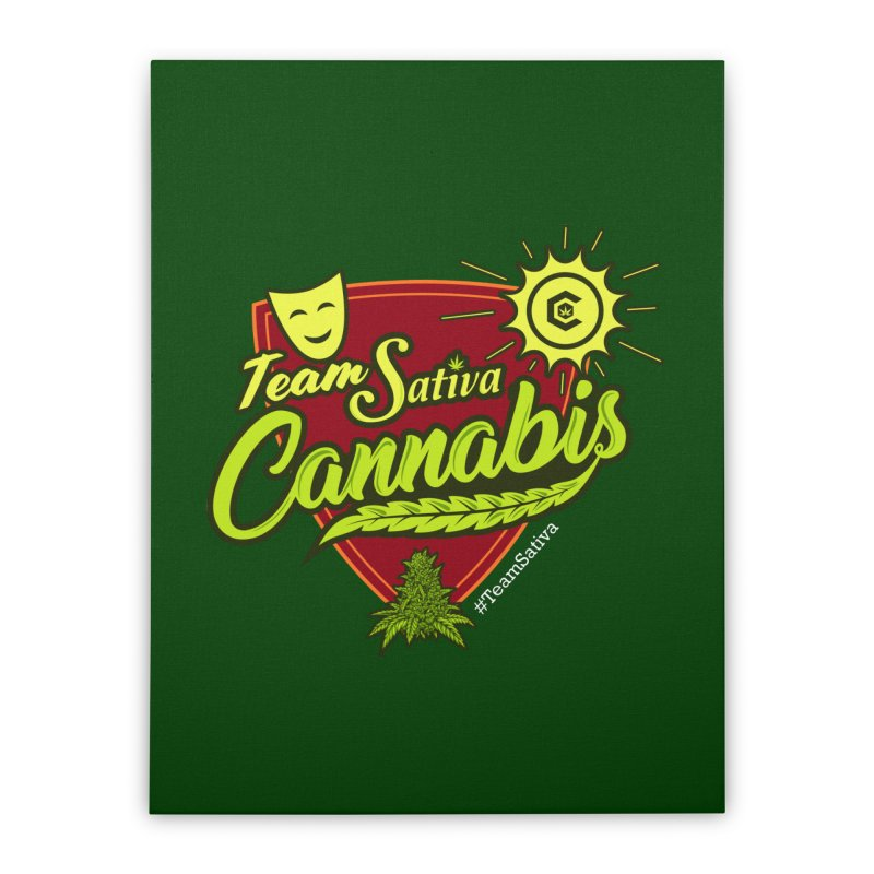 Team Sativa Home Stretched Canvas by The Medical Cannabis Community