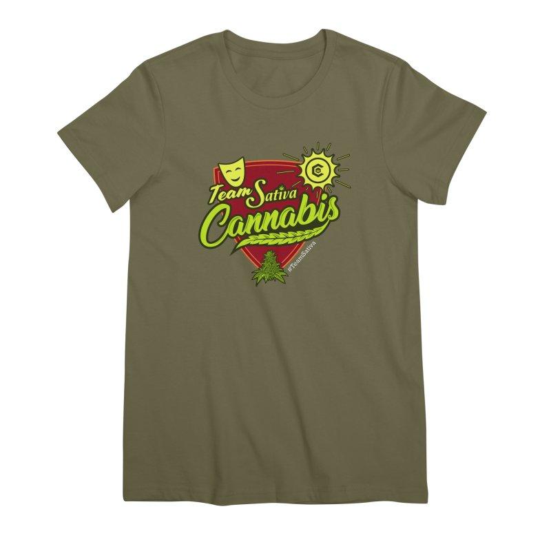 Team Sativa Women's Premium T-Shirt by The Medical Cannabis Community