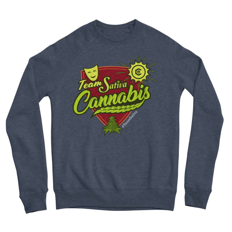 Team Sativa Men's Sponge Fleece Sweatshirt by The Medical Cannabis Community