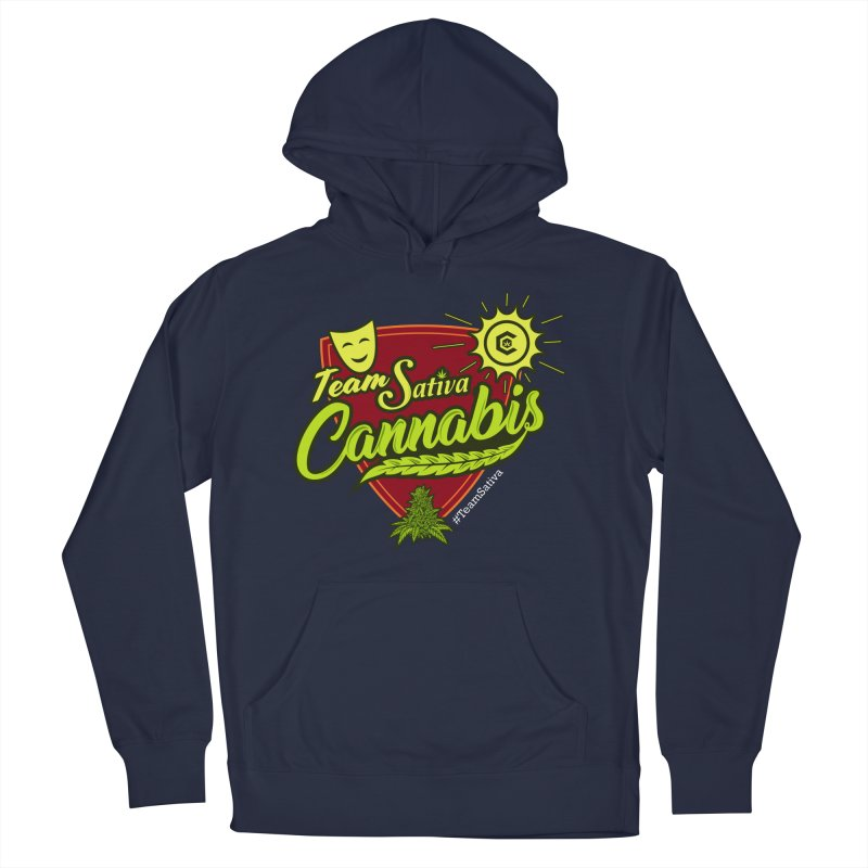 Team Sativa Men's French Terry Pullover Hoody by The Medical Cannabis Community
