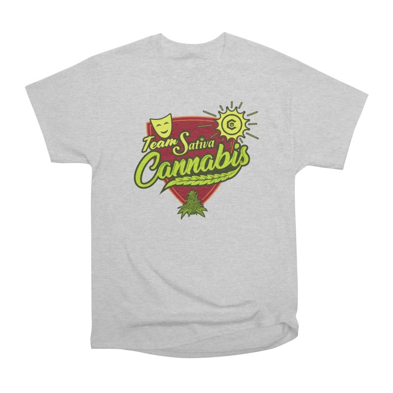 Team Sativa Women's Heavyweight Unisex T-Shirt by The Medical Cannabis Community