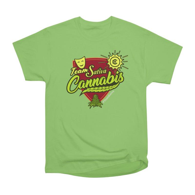 Team Sativa Women's Heavyweight Unisex T-Shirt by The Medical Cannabis Community