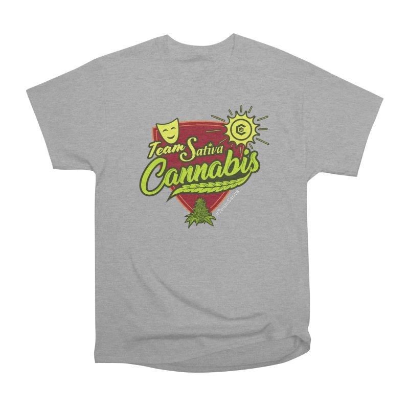 Team Sativa Men's Heavyweight T-Shirt by The Medical Cannabis Community