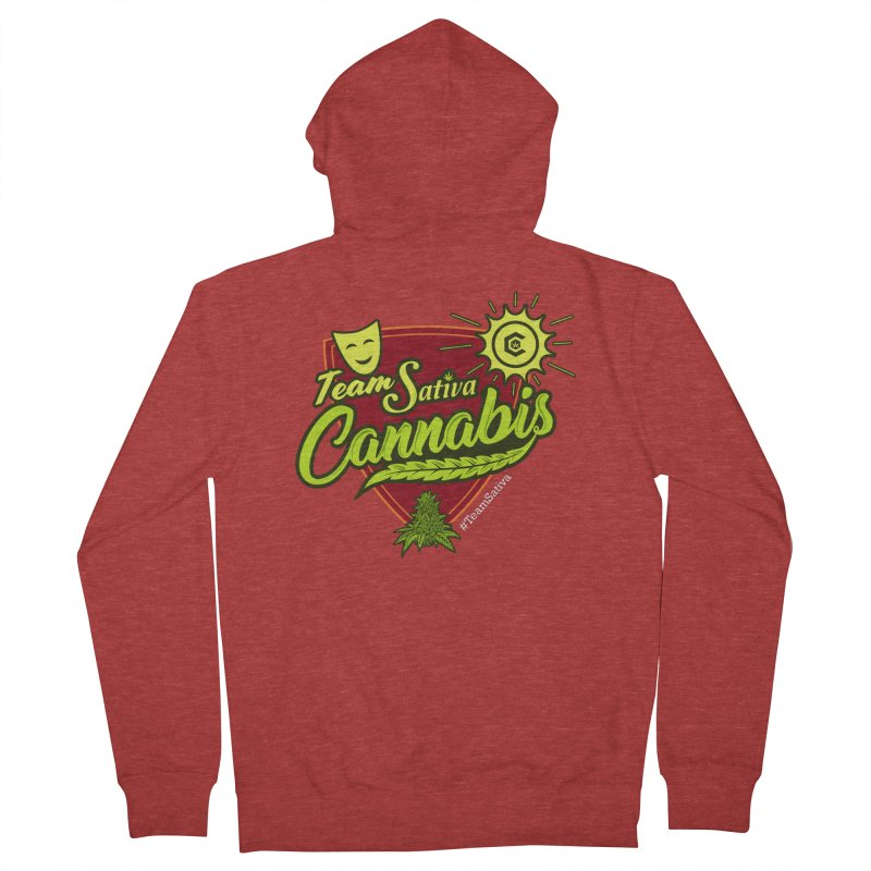 Team Sativa Women's French Terry Zip-Up Hoody by The Medical Cannabis Community