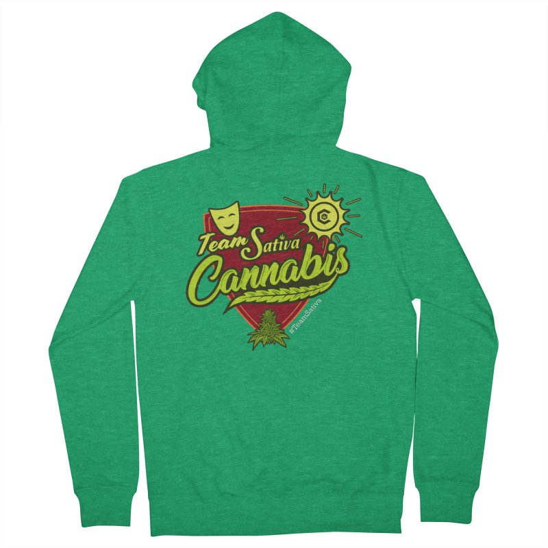 Team Sativa Men's Zip-Up Hoody by The Medical Cannabis Community