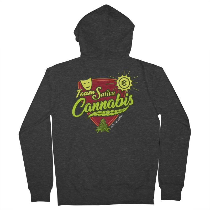 Team Sativa Men's French Terry Zip-Up Hoody by The Medical Cannabis Community