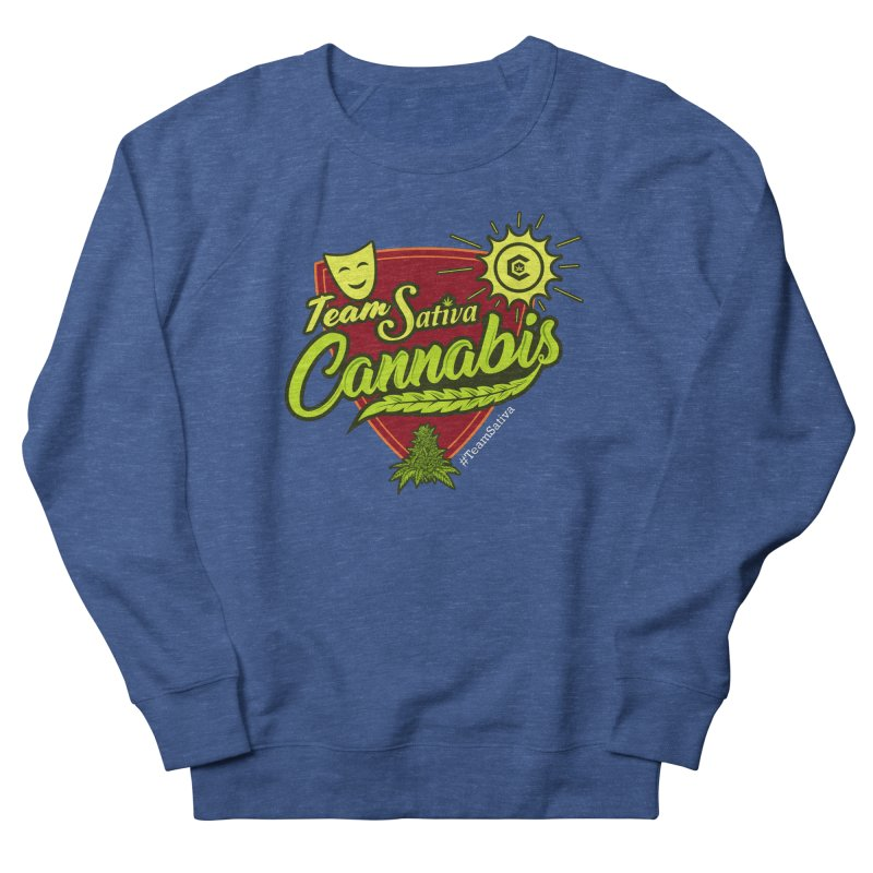 Team Sativa Men's French Terry Sweatshirt by The Medical Cannabis Community