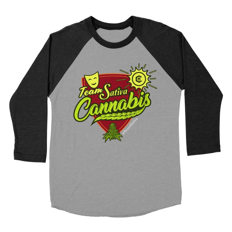 Team Sativa Women's Baseball Triblend Longsleeve T-Shirt by The Medical Cannabis Community