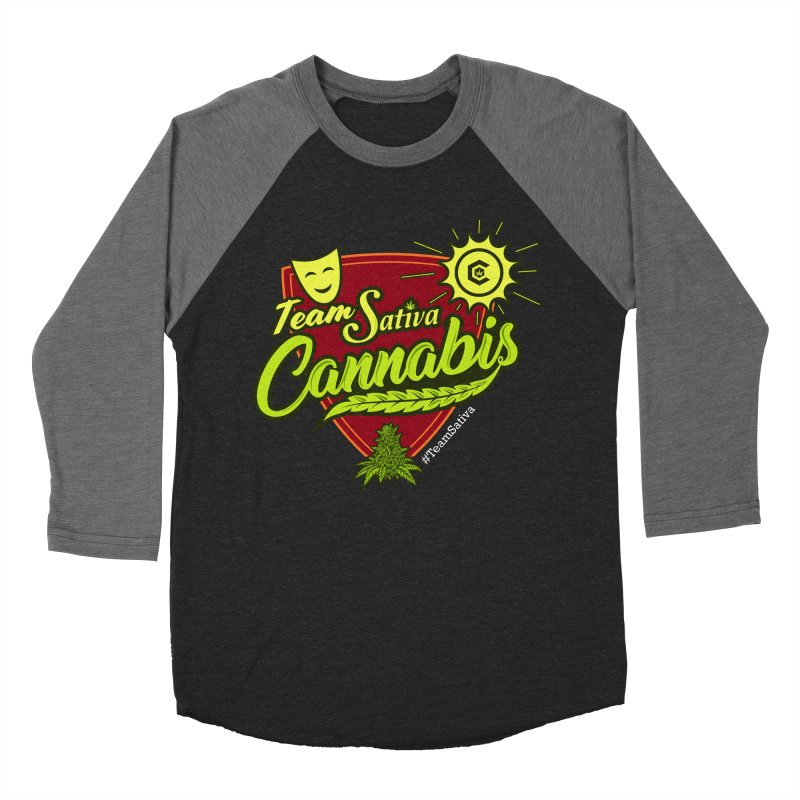 Team Sativa Men's Baseball Triblend Longsleeve T-Shirt by The Medical Cannabis Community