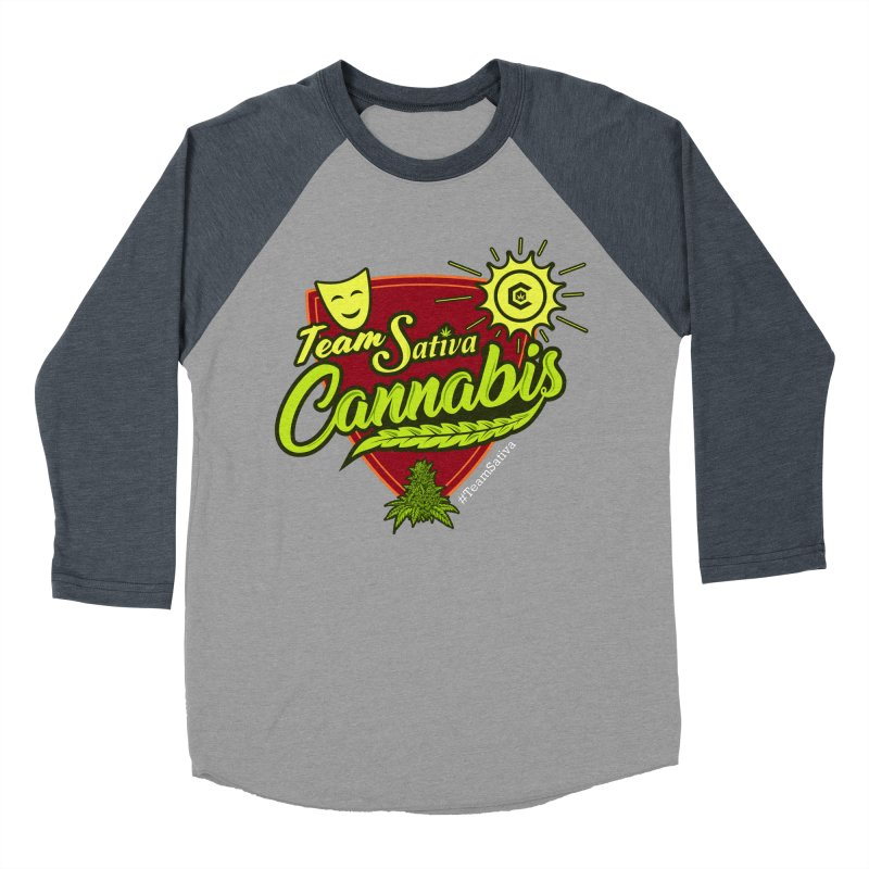 Team Sativa Men's Baseball Triblend Longsleeve T-Shirt by The Medical Cannabis Community
