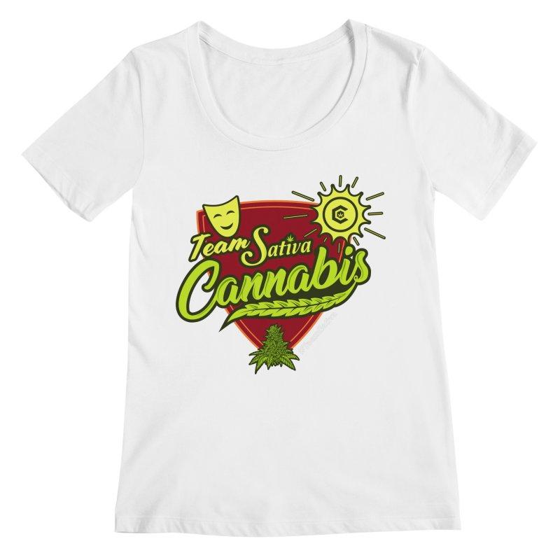 Team Sativa Women's Regular Scoop Neck by The Medical Cannabis Community