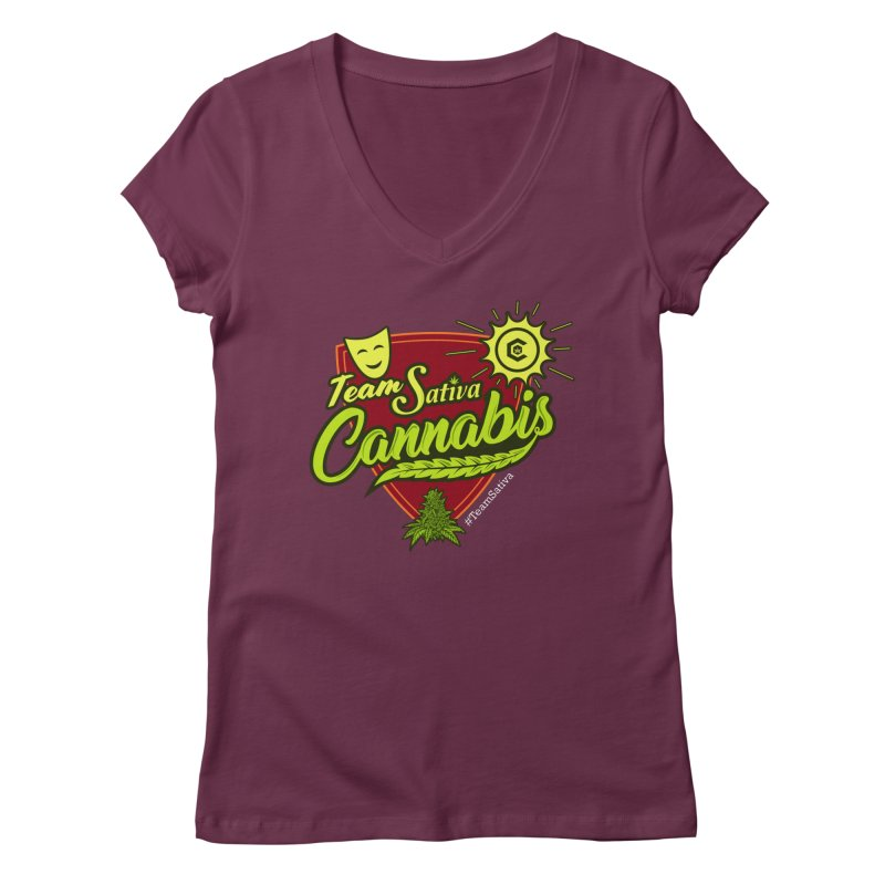 Team Sativa Women's V-Neck by The Medical Cannabis Community