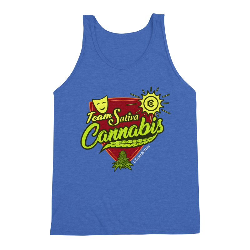 Team Sativa Men's Triblend Tank by The Medical Cannabis Community