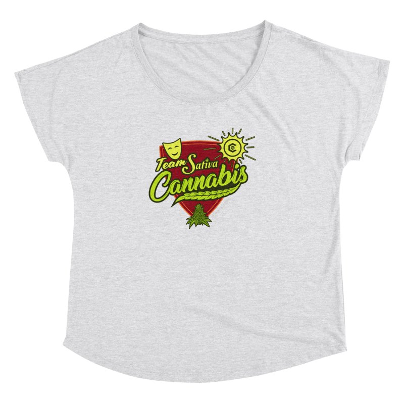 Team Sativa Women's Dolman Scoop Neck by The Medical Cannabis Community