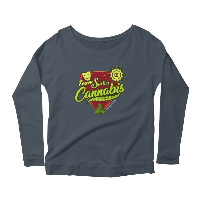 Team Sativa Women's Scoop Neck Longsleeve T-Shirt by The Medical Cannabis Community